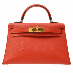 HERMES MINI KELLY 2 SELLIER 2way Hand Bag XHT374BH Rouge Tomate Veau Epsom 71268