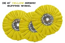 "3pc 10"" DIA Orange/Yellow 5/8"" 16 PLY Renegade Products Airway Buffing Wheel"