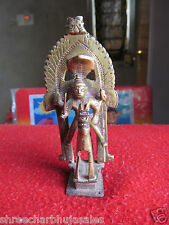 Rare Antique Brass Statue Of a Man on Horse Form Indian village Tribal God