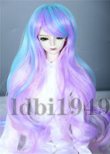 "1/4 7-8"" BJD Dal DD Wig SD LUTS MSD DOD Dollfie Doll Wig Long curly Gradient wig"