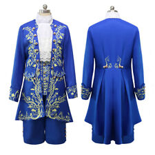 New 2017 Prince Adam Costume Beauty And The Beast Cosplay Adult Fancy Dress