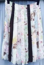 PER UNA M&S Gorgeous Floaty Pastel Floral Summer Skirt 14 L 42 Long Tall Panels