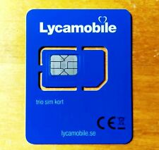 5x LYCAMOBILE SWEDEN SIM CARD READY-TO-USE PERFECT FOR ACCOUNT VERIFICATION SMS