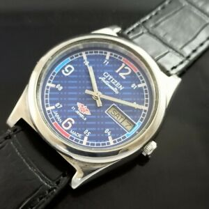 VINTAGE CITIZEN AUTOMATIC 8200A JAPAN MENS DAY/DATE WATCH 467b-a234720-4