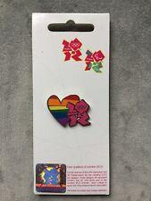 DIVERSITY 'LGBT' RAINBOW HEART OLYMPIC LOGO Pin Badge London 2012 Olympic Games