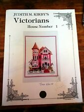 Cross stitch chart rare Judith M. Kirby Victorians House Number 1
