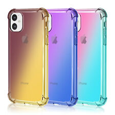 For iPhone 11/11 Pro/ 11 Pro Max Clear Case Shockproof Protective Silicone Cover