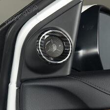2X Carbon fiber look Front Door Speaker Cover Trim FOR HONDA CR-V CRV 2017 2018