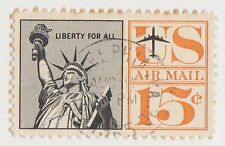 (UST-186) 1961 USA 15c statue of liberty air mail (AC)