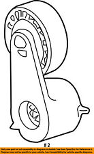 FORD OEM 97-08 Ranger-Serpentine Fan Belt Tensioner 3L5Z6B209AA