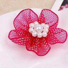 Satin Decoration 10pcs DIY Craft Organza Flowers Wedding