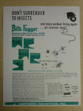 VINTAGE BLITZ FOGGER ESTATE DELUXE #400 SPEC SHEET for WHEEL HORSE TRACTORS