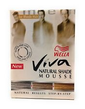 Mens Wella Viva Natural Shade Mousse Cover Greys - for Blonde hair - Kit