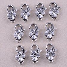 10pcs antike Tibetan Silber Flower Karabiner VERSCHLUSS für DIY