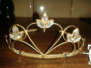 BNWT SHIRBAR DESIGNER MATTE ANTIQUE GOLD JEWEL BRIDES TIARA RRP£38