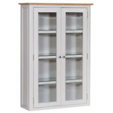 Manor House Stone Grey Painted Furniture Small Dresser Top Display Cabinet Unit