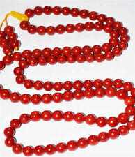 8MM genuine red coral bracelet Taiwan AKA prayer beads worry rosary necklace