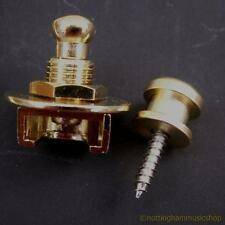 STRAP LOCK LOCKING STRAP PIN FOR GUITAR GOLD PLATED NEW
