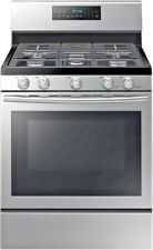 """Samsung Nx58H5600Ss 30"""" Freestanding Gas Range, Convection Oven, Stainless Steel"""