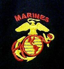 US Marine Corps Sweatshirt Crew Neck Black Embroidered Eagle Globe Anchor S New