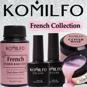 KOMILFO French Rubber / Glitter Base NEW Collection Gel Nail Polish Milk Nud