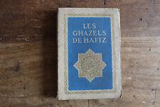 Charles DEVILLERS - les GHAZELS d'HAFIZ - ed. Piazza 1922, front. Edmond DULAC