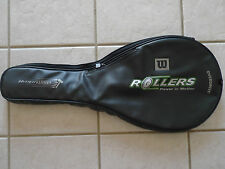 Wilson Zipper Rollers Power In Motion OverDrive Racquet Racket Cover Black Bag