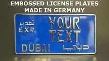Dubai EXP export Arab Arabic UAE U.A.E US USA Custom License Plate Alu Embossed
