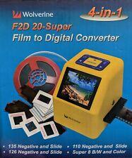 Wolverine Film to Digital Converter F2D Super 20mp 35mm 110 126 4-in-1