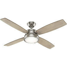 """Hunter Wingate 52"""" Home Ceiling Fan with LED Light and Remote, Brushed Nickel"""