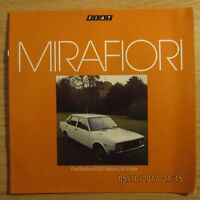 FIAT Mirafiori 2 4 door 1300 Saloon UK Market Original Car Sales Brochure 1977