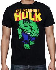The Incredible Hulk Classic Comic Book Cartoon Avengers Hero Movie Black T Shirt
