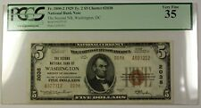 1929 Type 2 Second National Bank of Wash DC $5 Note Charter 2038 PCGS VF35 RS