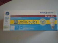 GE Energy Smart 60 Watt Replacement Bulbs 10 Count NIB Soft Light Instant On