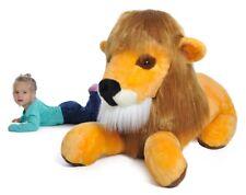 Grand lion en peluche 115cm peluche géante énorme!