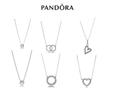 New Genuine Pandora Silver Sterling Necklace All styles ALE925 45cm Gift Pouch