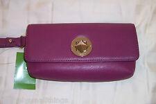 NWT Kate Spade Chrystie Street Evan Wristlet Moody Plum Leather WLRU1868
