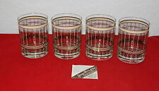 Vintage Georges Briard Aristocrat Double Old Fashioned Low Ball Glasses Set Of 4