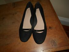 WOMENS M&S FOOTGLOVE SUEDE SHOES UK 5 38 NEW