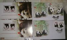 大熊猫 Panda 2015 - MALAYSIA CHINA PANDA Original FDC STAMP MS pair KL chop