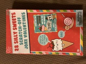 28ct Silly Sweets Scratch-Off Joke Valentines