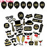 UK 36PCS Birthday Party Wedding Photo Booth Props On Stick Selfie DIY Funny