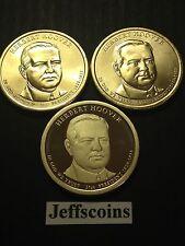 2014 PDS Herbert Hoover Presidential Golden Dollar $ MINT Roll 3 Coin P D S Set