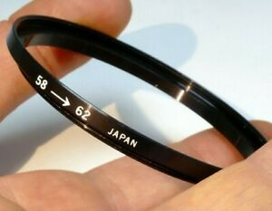 58mm to 62mm lens ring step up threaded made in Japan