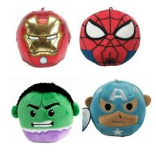 Hallmark Fluffballs Marvel Plush Ironman, Hulk, Spiderman, Captain America