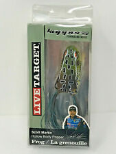 Live Target - Hollow Body Popper Frog - Emerald Brown - 3/8 Oz - Fhp55T514