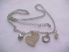 2.00tcw cubic zirconia pave heart charm necklace