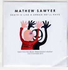 (ER477) Mathew Sawyer, Death is Like a Dream We'll Have - 2013 DJ CD