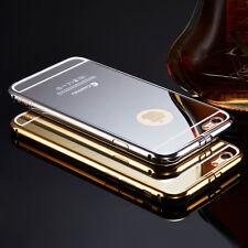 Luxury Thin Aluminum Metal Plastic PC Mirror Case for iPhone 5/ 5s/ 6/ 6s 7 Plus