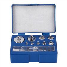 17 pcs calibration weight set 1,2,5,10,20,50,100g 10,20,50,100,200,500mg Scale